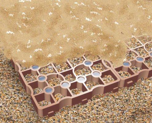 Reitplatzmatte mit Wasserspeicher